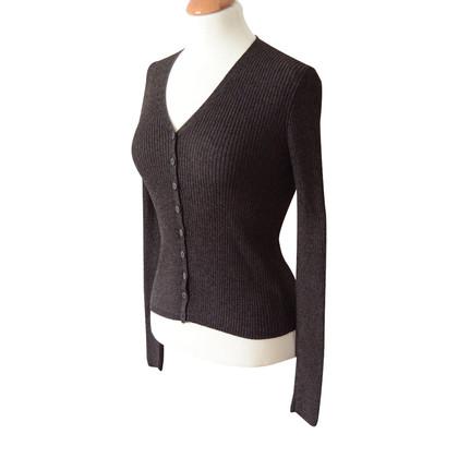 Iris von Arnim dark brown mottled sweater