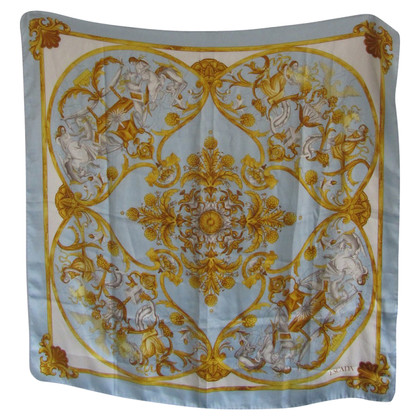 Escada Baby blue silk scarf.