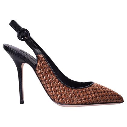 Dolce & Gabbana Bronzefarbene Slingbacks