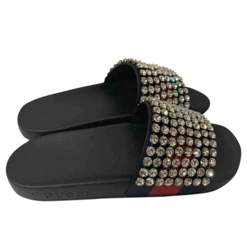 Gucci Slippers Ballerinas In Black Second Hand Gucci Slippers Ballerinas In Black Buy Used For 345 4556681