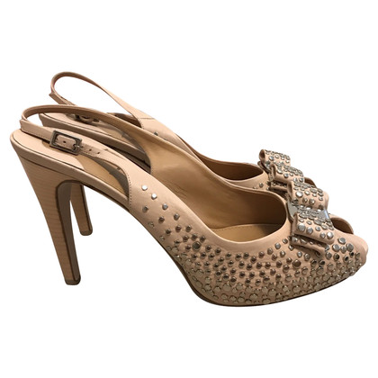 Salvatore Ferragamo Peep toes with studs
