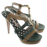 Marc by Marc Jacobs Sandals in green leather