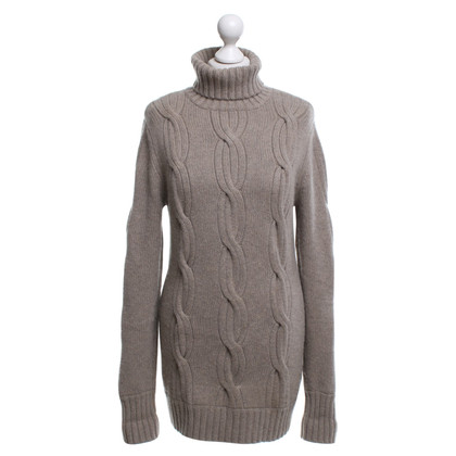 Allude Long-cut pullover in beige