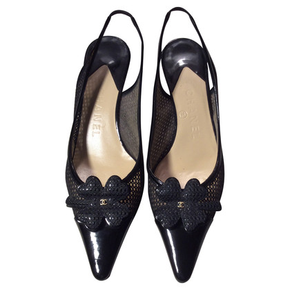 Chanel Schwarze Slingback-Pumps