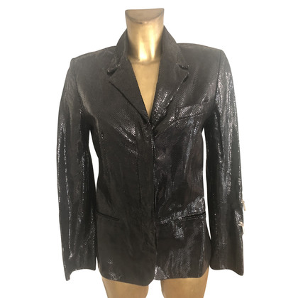 Versace Patent leather jacket