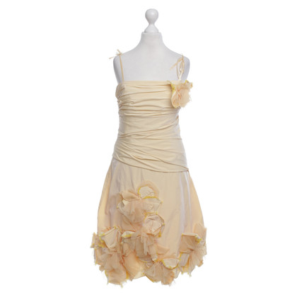 BCBG Max Azria Bustier Dress in Yellow