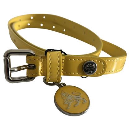 MCM ceinture jaune pattent