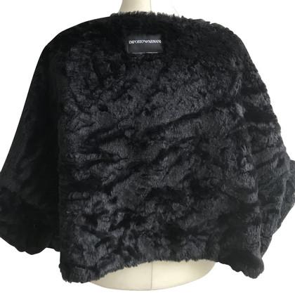 Armani Jeans Jack cape gemaakt van faux fur