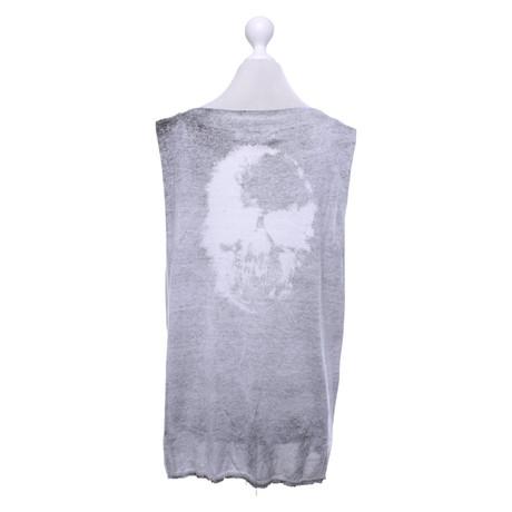 Cashmere Grau Grau Skull Skull Oberteil Cashmere in qWwEcUTOOY