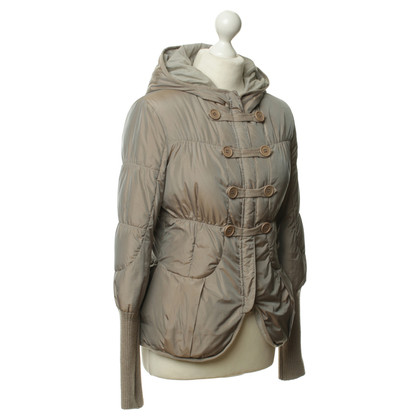 Brunello Cucinelli Down jacket in Taupe