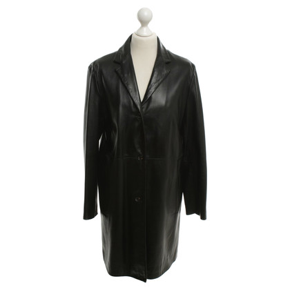 Cinque Leather coat in black