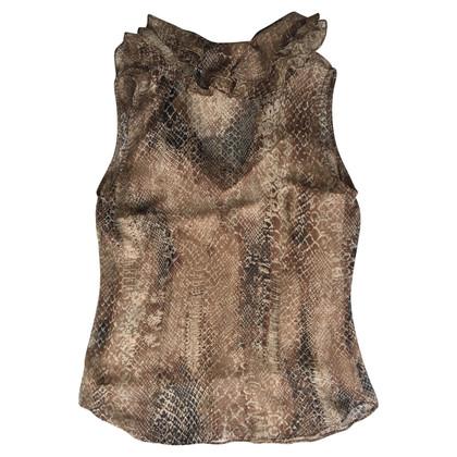 Ralph Lauren Luipaard print zijde boven