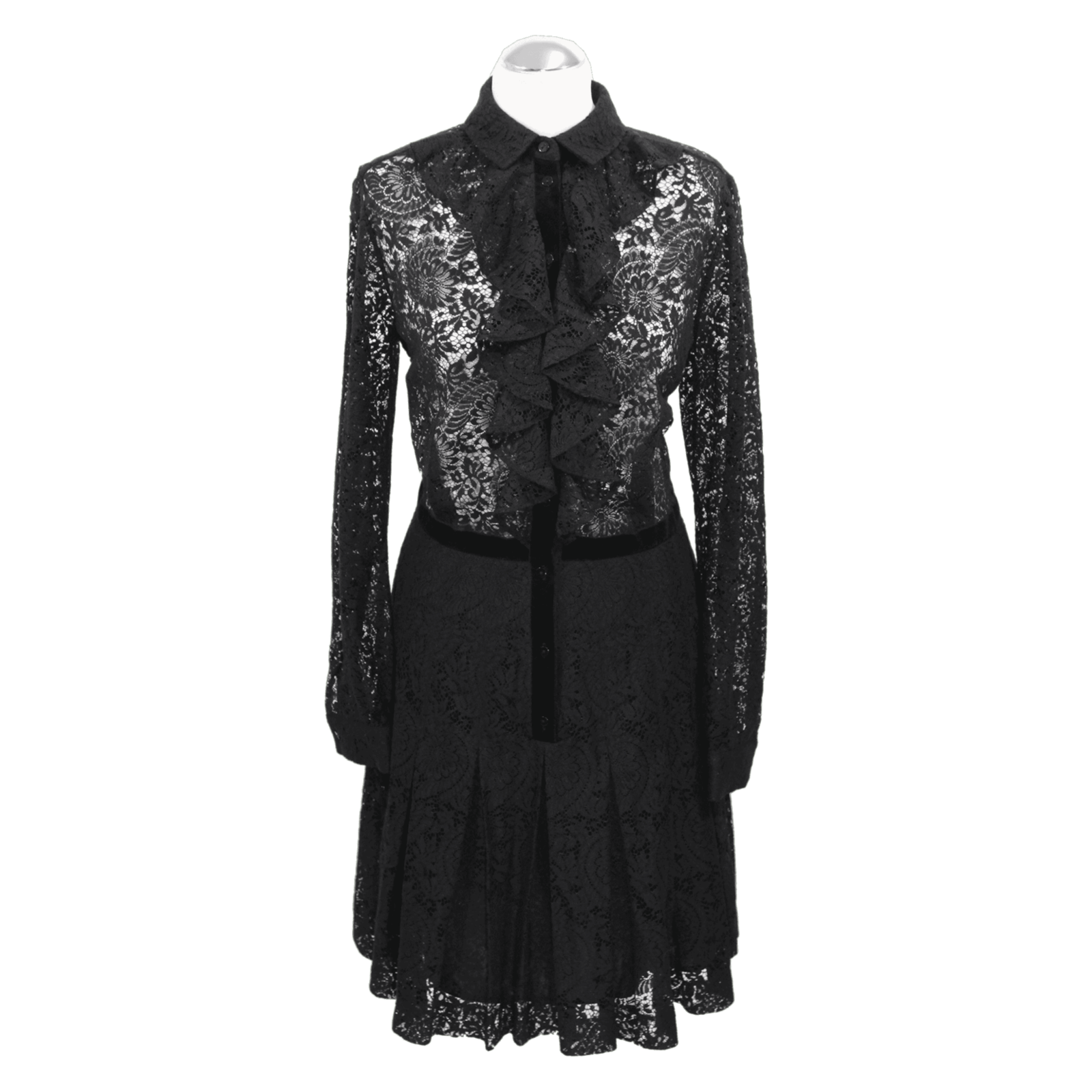 the kooples kleid aus baumwolle in schwarz - second hand the
