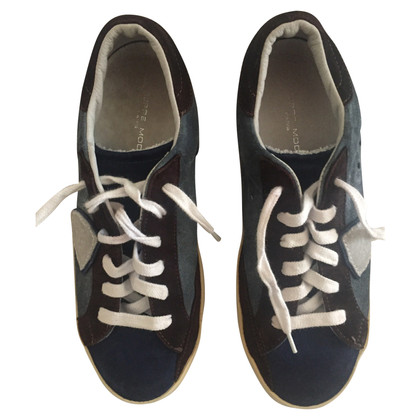 Philippe Model Blue suede sneakers