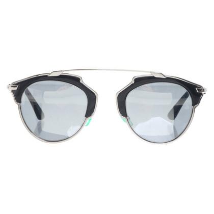 Christian Dior Occhiali in nero / argento