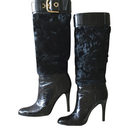 Dolce & Gabbana Leather boots / fur
