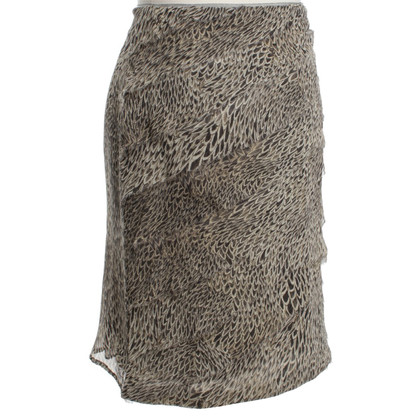 Marc Cain Silk skirt with pattern