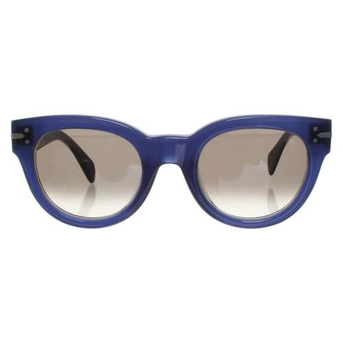 7fb0cf3a0af9f Céline Sunglasses in blue - Second Hand Céline Sunglasses in blue ...