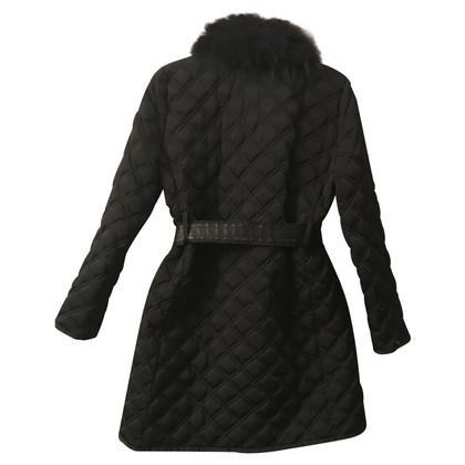 Blumarine cappotto trapuntato con collo in pelliccia