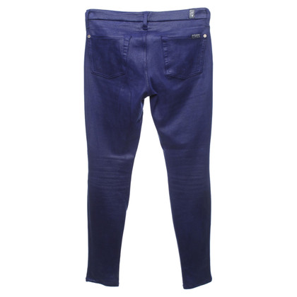 7 For All Mankind trousers in leather look