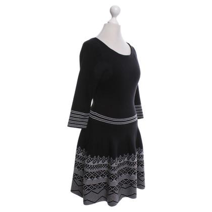 Maje Gebreide jurk zwart / White