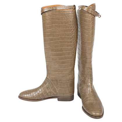 Hermès Kellystiefel aus Alligatorenleder