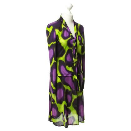 Gianni Versace Kostuum in het paars en groen