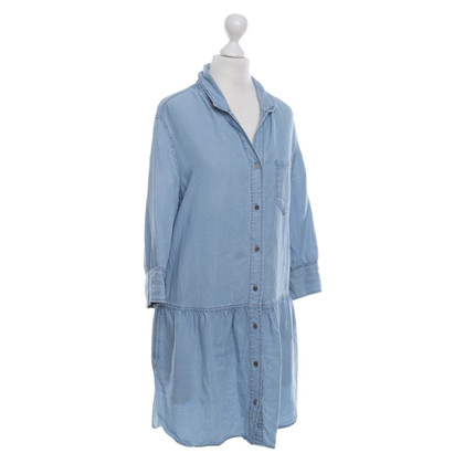 Sandro Jean Dress in Light Blue