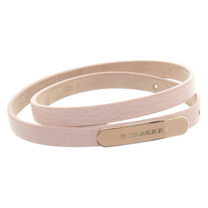 Burberry Lederarmband in Rosa