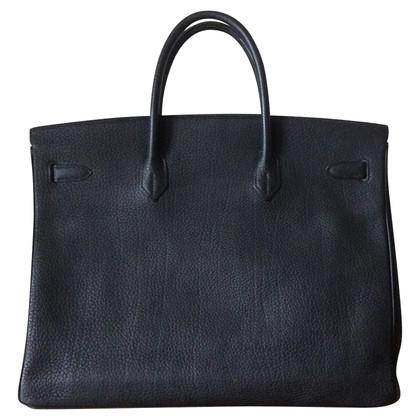 Hermès Birkin 40 schwarz Togo Palladium