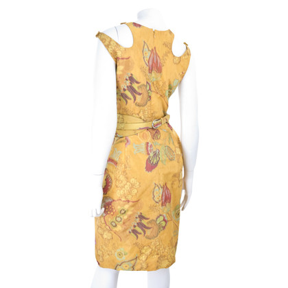 Oscar de la Renta Taffeta dress with belt