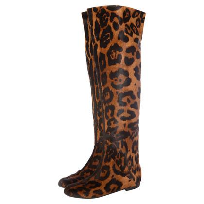 Giuseppe Zanotti Overknees with leopard pattern