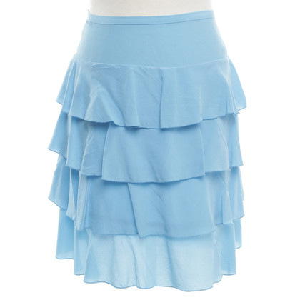 French Connection Silk skirt in light blue