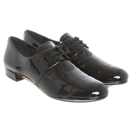 Prada Patent lace-up shoes in black