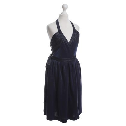 "Diane von Furstenberg ""Jessica"" vestito in blu scuro"