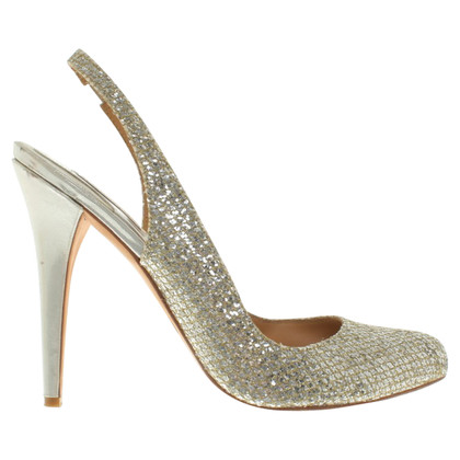 Badgley Mischka pumps con glitter