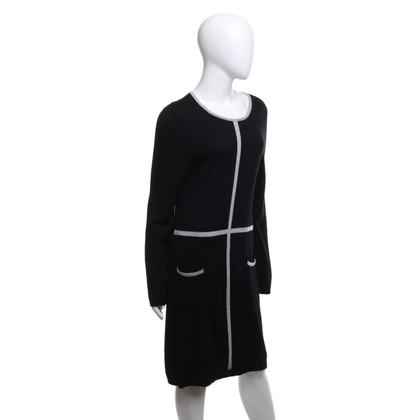 Cynthia Rowley Abito in maglia nero / grigio