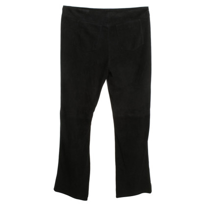 Marc Cain Wild leather trousers in black