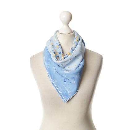 Cartier Sciarpa di seta blu