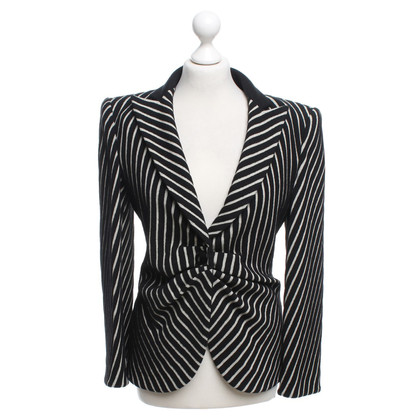 Armani Collezioni Blazer with striped pattern