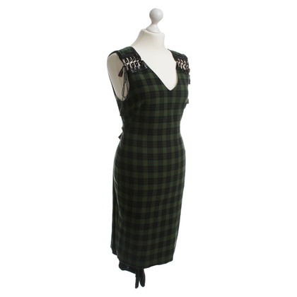 Jean Paul Gaultier Plaid dress in green