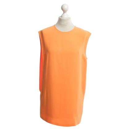 Jil Sander Seidenkleid in Orange