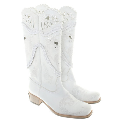 Richmond Boots in White
