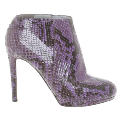 Sergio Rossi Snake leather ankle boots