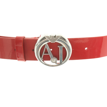 Armani Jeans Patent leather belt