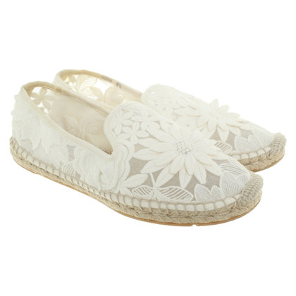 Tory Burch Espadrilles in creamy white
