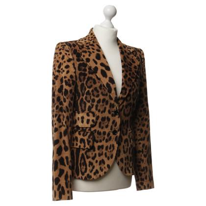 Dolce & Gabbana Cordblazer im Leo-Look
