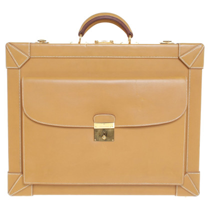 "Hermès ""Attache-Case Veau Naturelle"""