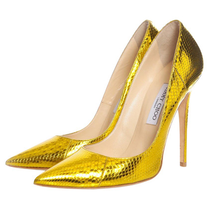 Jimmy Choo Goudkleurige pumps