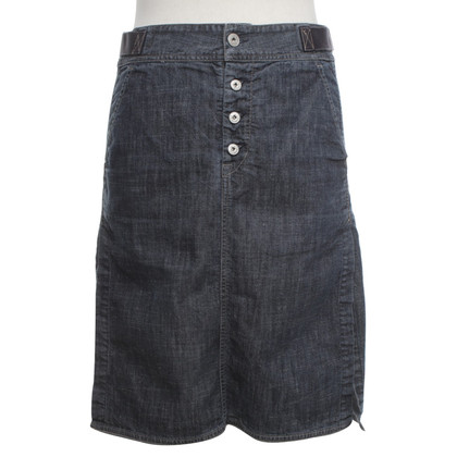 Marithé et Francois Girbaud Denim skirt in gray blue